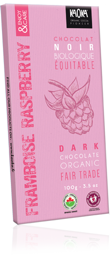 Tablette Chocolat Noir Framboises bio équitable