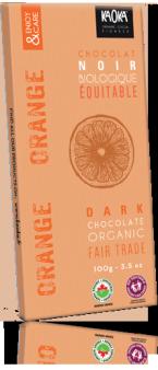 Tablette Chocolat noir orange bio équitable