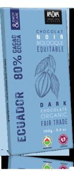 Tablette Noir 80% pure origine Equateur KAOKA