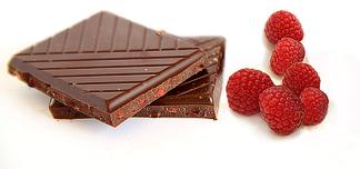 chocolat framboises